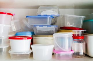 26703884 - reusable plastic container in the larder