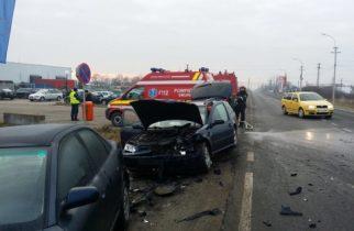 Breaking News: ACCIDENT cu trei mașini în vestul țării