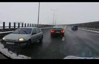 EXTREM pe A1! A condus pe CONTRASENS kilometri întregi