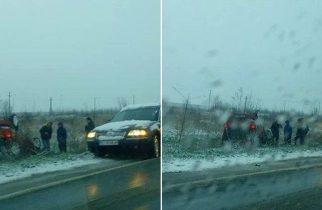 Breaking News: Mașină răsturnată pe o șosea din vest