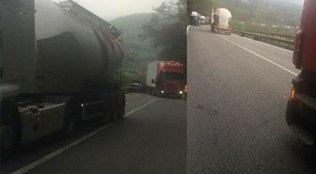 Breaking News: TRAFIC BLOCAT PE DN7 în urma unui accident rutier