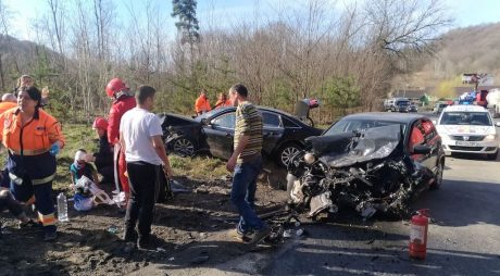 VIDEO FOTO – Accident groaznic pe DN7