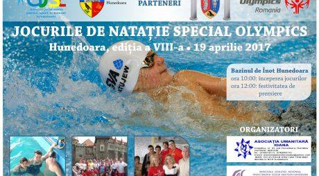 """Jocurile de Nataţie """"Special Olympics"""", la Hunedoara"""