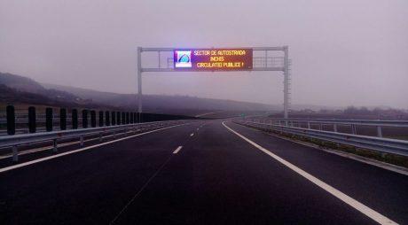 Imagini cu primul tronson de autostradă finalizat acum!