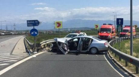Breakin News: ACCIDENT GRAV pe autostrada Deva-Sibiu