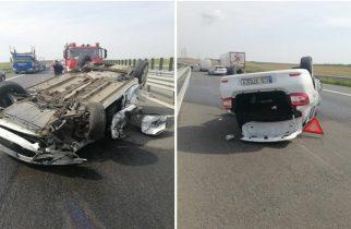 Accident pe autostrada A1! O persoană a ajuns la spital