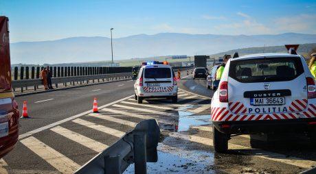 Trafic îngreunat pe A1. Accident rutier grav