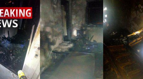 Locuință în flăcări! Salt MORTAL de la etajul 10