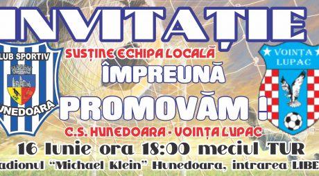 Sâmbătă, C.S. Hunedoara și Voința Lupac