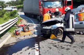FOTO. Accident grav pe o șosea din vestul țării