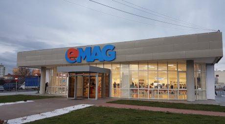 Spargere la magazinul eMag din Sibiu. Prejudiciul este mare!