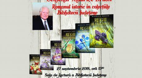 Biblioteca Județeană. CENTENAR MAURICE DRUON