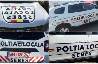 """De """"râsul curcilor""""!Ce scrie pe mașina Poliției Locale din Sebeș"""