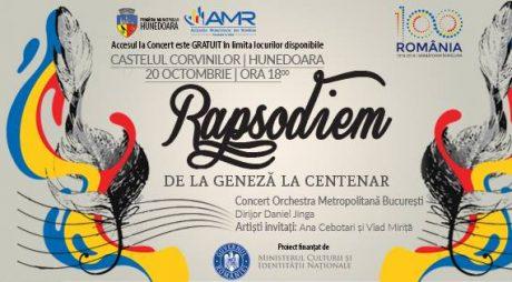 CENTENAR. Concert la Castelul Corvinilor din Hunedoara