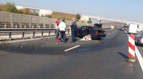 Accident pe autostrada A1 Sibiu-Orăștie