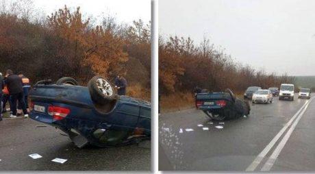 Accident grav pe o șosea din vestul țării