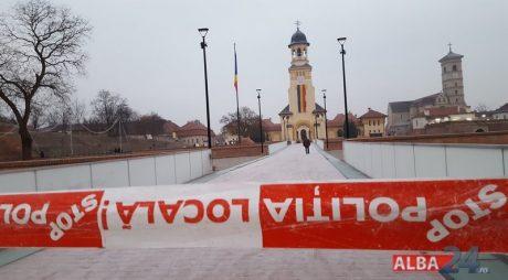 Alba: Podul inaugurat de Ziua Națională A ÎNGHEȚAT