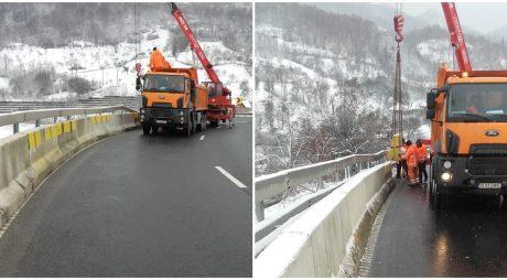 Parapete suplimentar pe DN66 Simeria-Petroșani