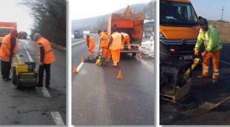 Se astupă gropile pe autostradă și pe drumurile naționale