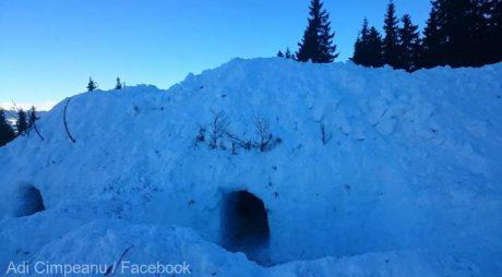 Hunedoara: Tabără de construit iglu-uri în staţiunea Parâng
