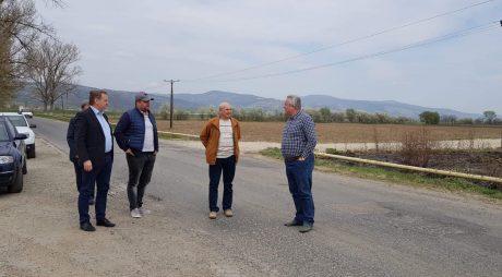 Vizită de lucru în teren la drumuri județene cu probleme