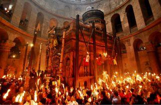 Lumina Sfântă, adusă sâmbătă din Ierusalim
