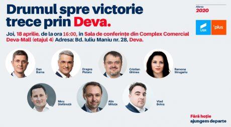 Lansare de candidați ai Alianței 2020 USR PLUS, la Deva