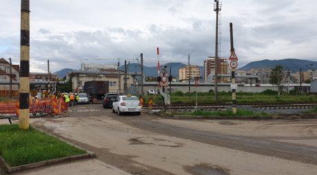 Deva: Trafic reluat în zona pasajului de cale ferată de pe strada Hărăului