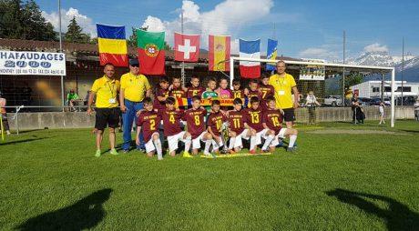 Juniorii U11 (2008) locul I la Turneul Internațional din Aigle – Elveția și Cupa Fair-Play
