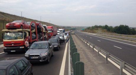 Trafic îngreunat pe autostrada A1  Lugoj  – Timișoara