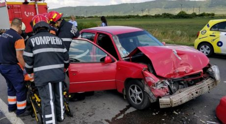 FOTO: Hunedorean de 79 de ani implicat într-un accident în județul Cluj