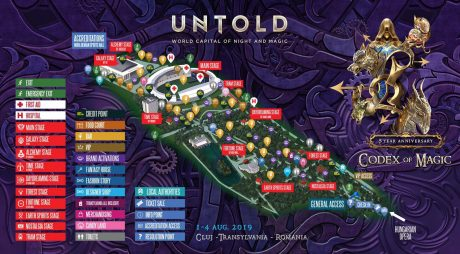 UNTOLD 2019 va avea cea mai impresionantă producție de festival din Europa. HARTA evenimentului