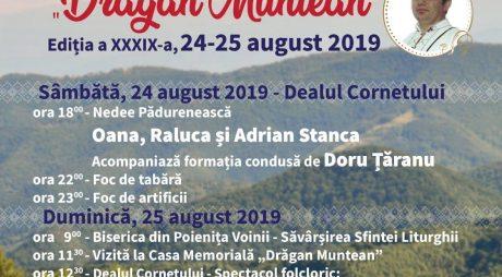 """Festivalul Pădurenilor """"Drăgan Muntean"""", la a 39-a ediție"""