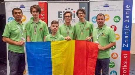 3 medalii de aur, una de argint la Olimpiada Europeană de Informatică  Juniori pentru România