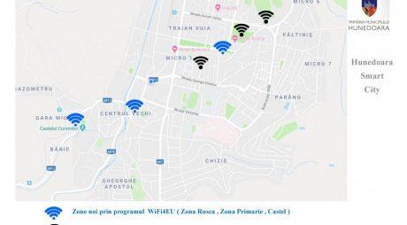 Hunedoara: 3 noi zone cu acces gratuit la internet