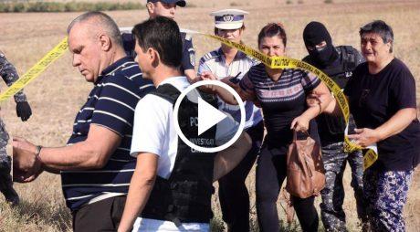 VIDEO. Cazul Caracal: Altercații la reconstituirea crimelor
