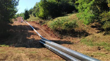 Lucrările la conducta de transport gaze Brad – Mintia, aproape finalizate la Brad și Luncoiu