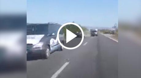 VIDEO: Accident transmis live de pe o sosea din Timis
