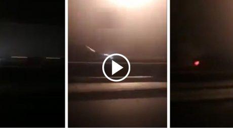 VIDEO: Inconștiență la volan. Șofer pe contrasens, noaptea, pe Autostrada Sebeș-Deva, în condiții de ceață