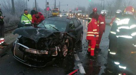 Accident grav, în vestul țării