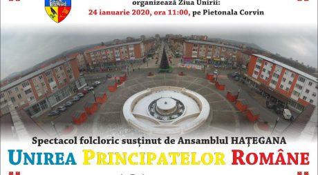 Unirea Principatelor Române, sărbătorită la Hunedoara