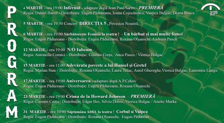 Programul lunii martie la Teatrul de Artă Deva