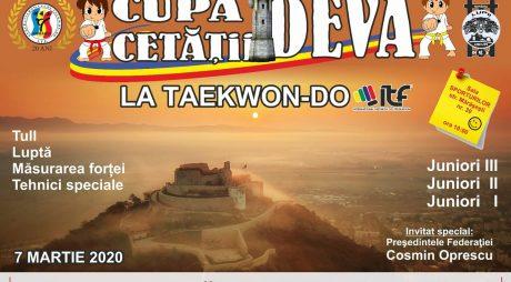 Cupa Cetăţii Deva la Taekwon-do – 7 martie 2020