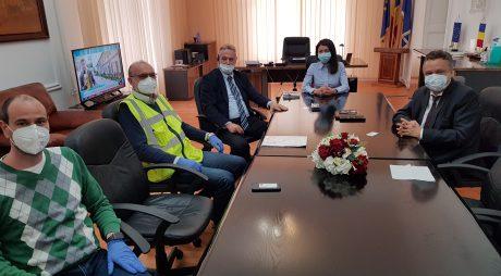 Întâlnire între prefectul județului și reprezentanții constructorului tronsonului de cale ferată de mare viteză Gurasada – Simeria