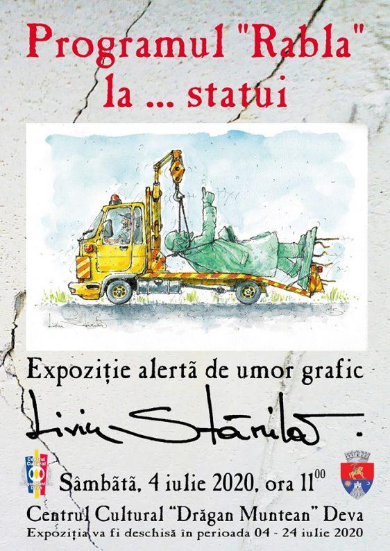Afis Expozitie caricatura L.Stanila