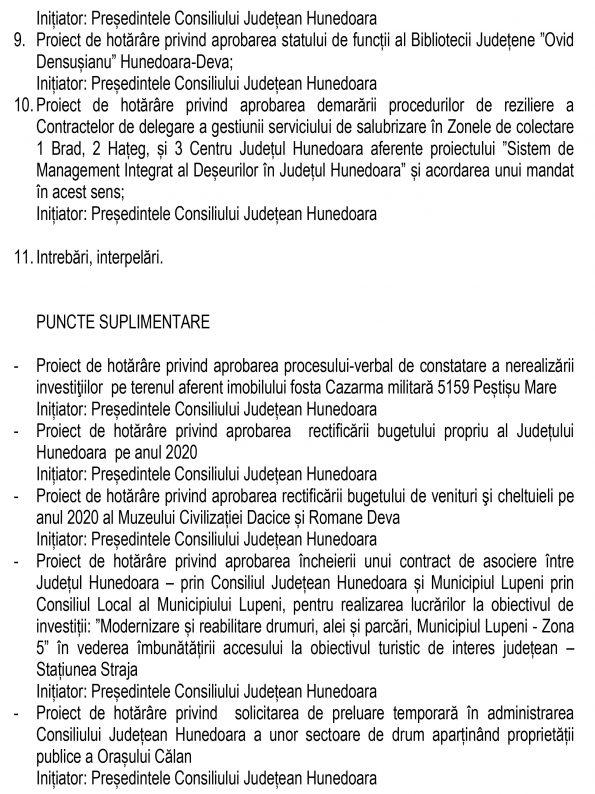 ORDINE DE ZI 30 iunie 2020-2