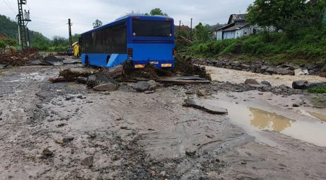 IGSU: 58 de localităţi din 16 judeţe, afectate de inundaţii