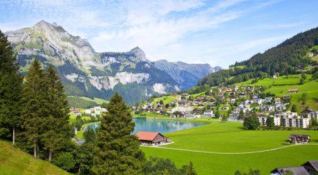 10930038 - engelberg village in switzerland