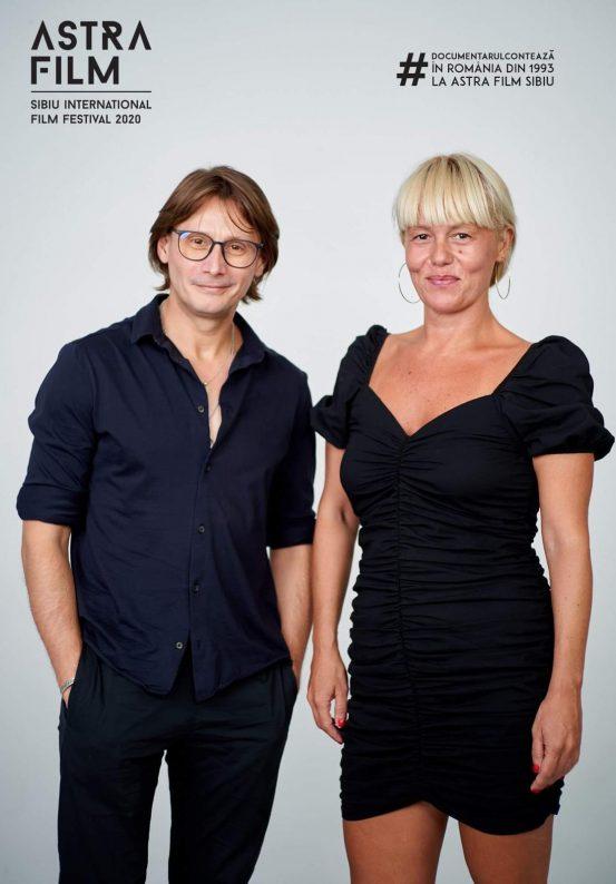 Actorul Marius Manole și Carmen Vidu - regizor de scenă AFF2020
