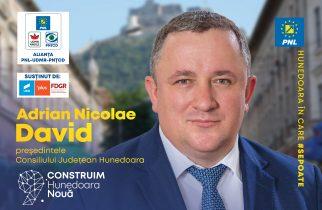 """Adrian Nicolae David (PNL): HUNEDOARA NOUĂ – """"Hunedoara curată"""""""